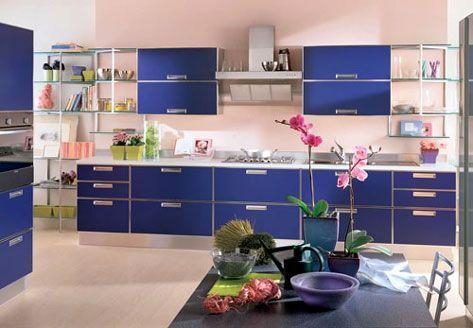 Pareti della cucina: colori e contrastiTotalDesign