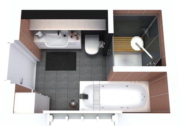 Come arredare un bagno piccolo rettangolare idee consigli e foto d 39 esempio - Pianta bagno piccolo ...