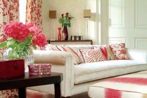 soggiorno divano bianco fantasia