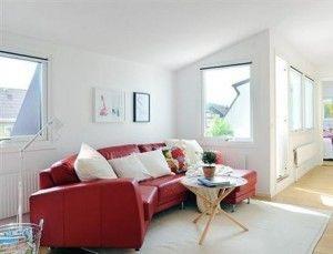 soggiorno divano rosso
