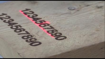 marcatura laser legno