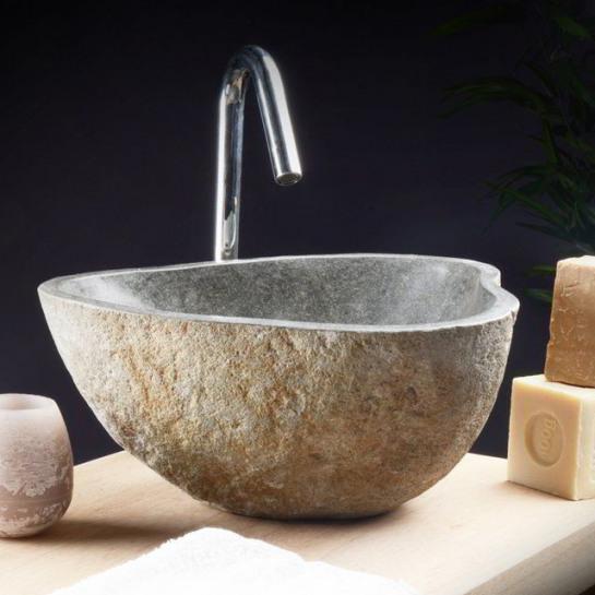 sanitari in pietra per bagno rustico