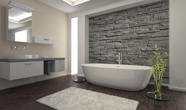 bagno rustico pietra